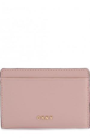 Кожаный футляр для кредитных карт DKNY. Цвет: розовый