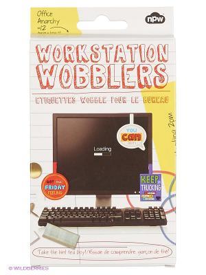 Набор статусов для рабочего стола Wobblers - Loading Kawaii Factory. Цвет: черный