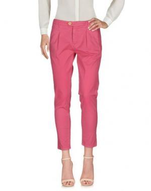 Повседневные брюки OAKS. Цвет: фуксия