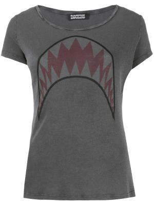 Футболка Shark Rockins. Цвет: серый