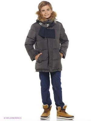 Пальто SNOWIMAGE. Цвет: темно-серый