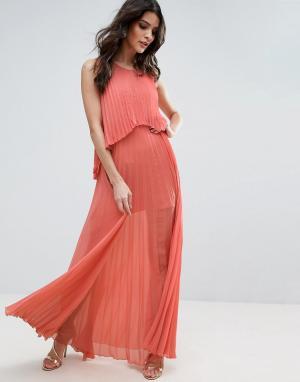 Jovonna Плиссированное платье Angel Delight. Цвет: розовый