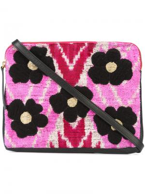 Flower Safari clutch Lizzie Fortunato Jewels. Цвет: чёрный