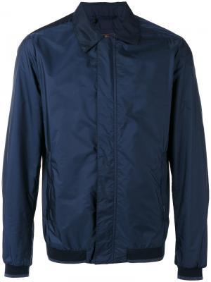 Куртка-бомбер  с косым воротником Paul & Shark. Цвет: синий