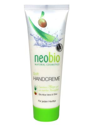 Neobio смягчающий крем для рук. Цвет: белый