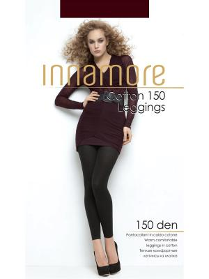 Леггинсы Cotton Leggings 150 marrone melange Innamore. Цвет: коричневый, бежевый