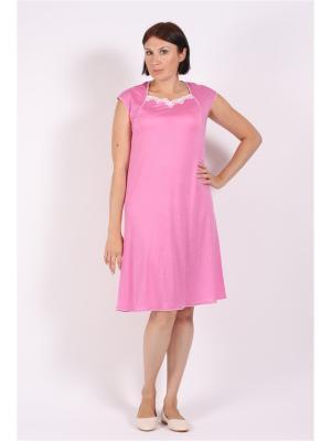 Ночная сорочка COTTONLAB. Цвет: розовый