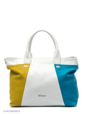 Сумка Sabellino. Цвет: белый, голубой, желтый