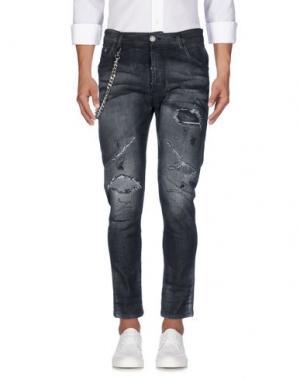 Джинсовые брюки YES LONDON. Цвет: стальной серый