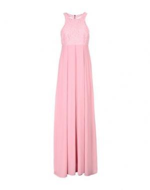 Длинное платье PINKO. Цвет: розовый
