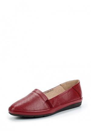Слипоны Zenden Collection. Цвет: красный