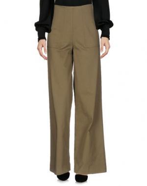 Повседневные брюки BELLEROSE. Цвет: зеленый-милитари