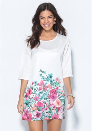 Платье Venca. Цвет: белый