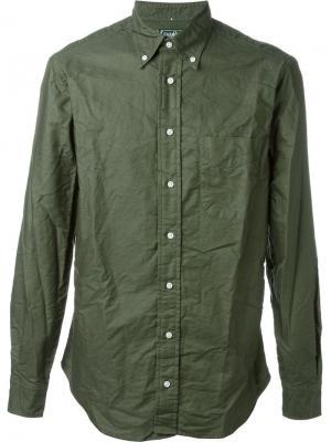 Рубашка Overdye Gitman Vintage. Цвет: зелёный
