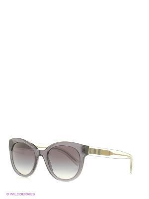 Солнцезащитные очки BURBERRY. Цвет: серый