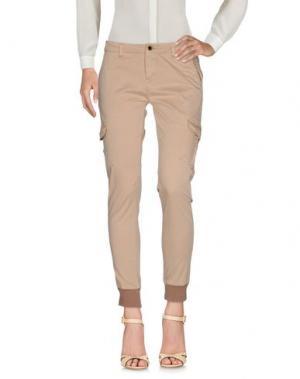 Повседневные брюки YES ZEE by ESSENZA. Цвет: песочный