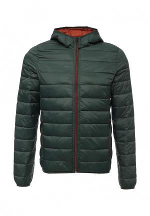 Куртка утепленная Selected Homme. Цвет: зеленый