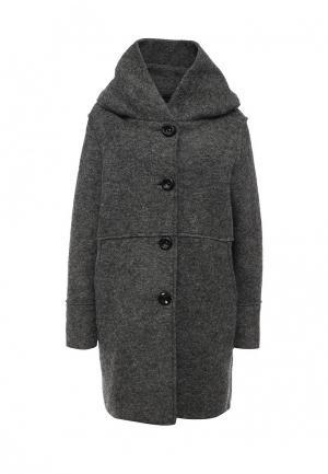 Пальто Lovini. Цвет: серый