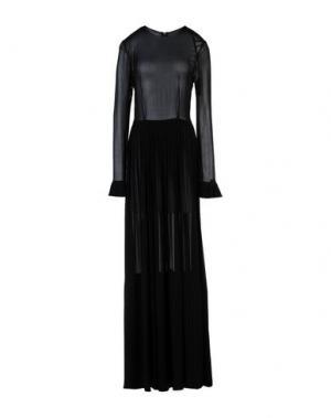 Длинное платье DANIELE CARLOTTA. Цвет: черный