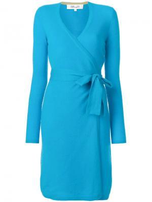 Платье с запахом Diane Von Furstenberg. Цвет: синий
