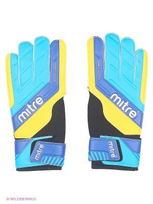 Перчатки вратарские MITRE Magnetite взрослые. Цвет: голубой, желтый, белый, черный, синий