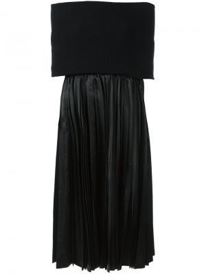 Плиссированное платье Junya Watanabe Comme Des Garçons. Цвет: чёрный