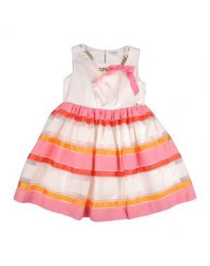 Платье MISS GRANT. Цвет: белый