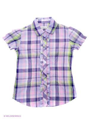 Блузка S`Cool. Цвет: сиреневый, фиолетовый, розовый, белый, салатовый
