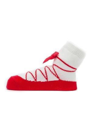 Носочки Пуанты красные Pretty Fashion Baby. Цвет: красный