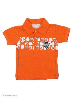 Футболка-поло Teidem. Цвет: оранжевый