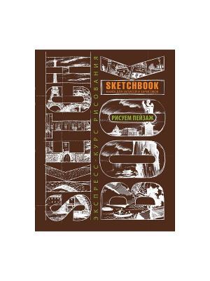 Sketchbook. Пейзаж (темно-коричневый) нов.оф. Эксмо. Цвет: коричневый