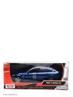 Модель автомобиля 2010 BMW 5 Series GT в масштабе 1к24 Motormax. Цвет: синий