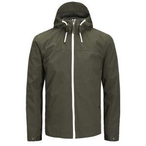 Куртка-ветровка JACK & JONES. Цвет: зеленый хаки,синий морской