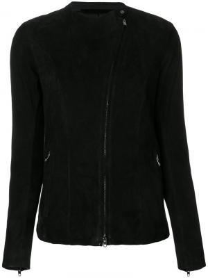 Приталенный пиджак на молнии Salvatore Santoro. Цвет: чёрный