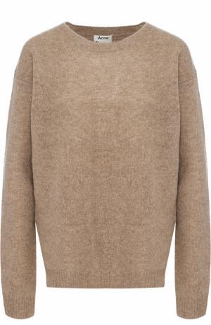 Пуловер свободного кроя с круглым вырезом Acne Studios. Цвет: коричневый