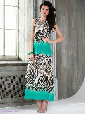 Платье TUZZI. Цвет: черный, морскаяволна, бежевый