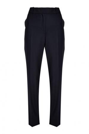 Темно-синие брюки из шерсти Paul & Joe Sister. Цвет: none