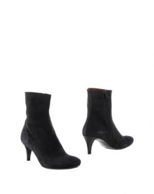 Полусапоги и высокие ботинки GUGLIELMO ROTTA. Цвет: свинцово-серый
