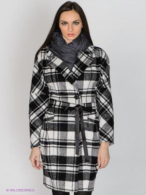 Пальто Klimini. Цвет: черный, белый