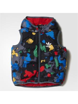 Жилет дет. спорт. I YWF VEST Adidas. Цвет: серый, желтый, зеленый, красный, синий
