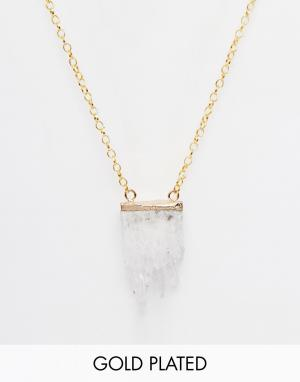 Only Child Ожерелье с подвеской из 22-каратного золота. Цвет: золотой