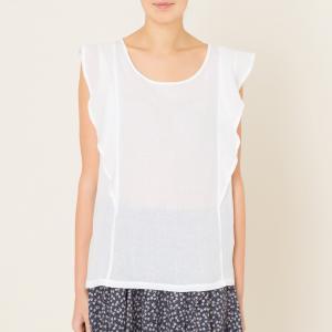 Блузка из хлопка HARTFORD. Цвет: антрацит,белый,охра