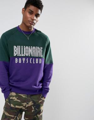 Billionaire Boys Club Свитшот со светоотражающим логотипом. Цвет: зеленый