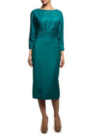 Платье-футляр NATALIA PICARIELLO. Цвет: зеленый