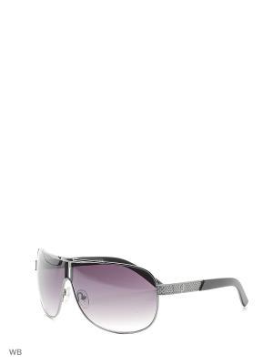 Солнцезащитные очки GU 6642 J45 GUN-35 GUESS. Цвет: серебристый, черный