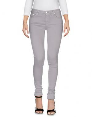 Джинсовые брюки (+) PEOPLE. Цвет: светло-серый