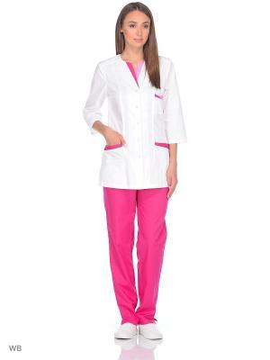 Костюм медицинский Med Fashion Lab. Цвет: лиловый, белый, розовый