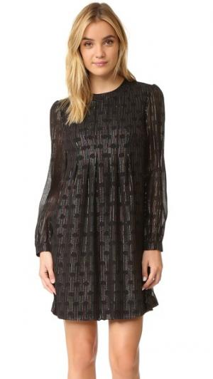 Платье Lulu Jill Stuart. Цвет: черный мульти