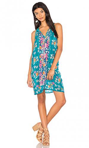 Мини платье savannah Tolani. Цвет: синий