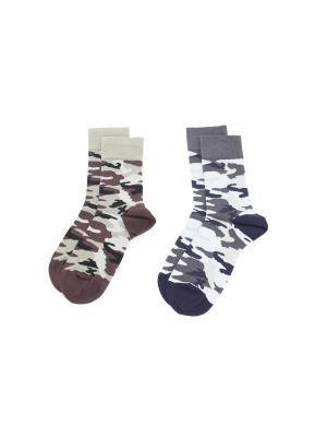 Носки, 2 пары Cascatto. Цвет: синий, коричневый
